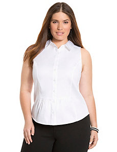 Sleeveless flounce shirt by LANE BRYANT