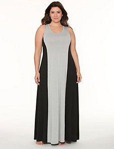 Tru to You colorblock sleep maxi by LANE BRYANT