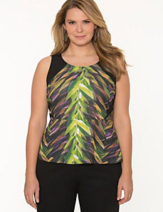 Printed peplum top by LANE BRYANT
