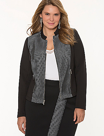Grid trim jacket