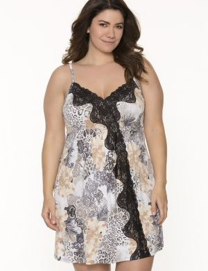 Tru to You mixed animal print chemise