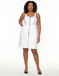 Pop trim shift dress