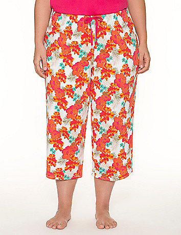 Floral cropped sleep pant