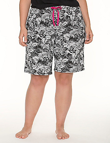 Palm print Bermuda sleep short