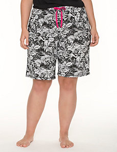 Palm print Bermuda sleep short by LANE BRYANT