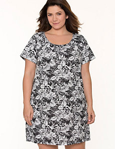 Palm print sleep shirt by LANE BRYANT