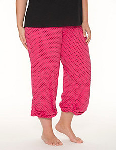 Polka dot rolled leg sleep pant by LANE BRYANT