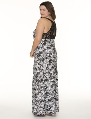 Lace back sleep maxi