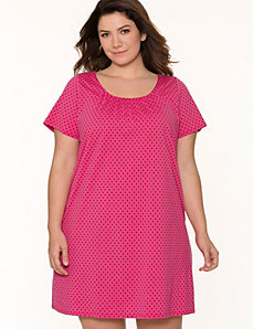 Polka dot sleep shirt