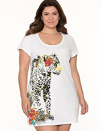 Leopard graphic sleep shirt
