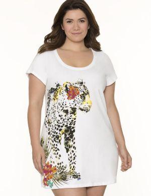 Leopard graphic sleep shirt