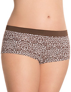 Cotton boyshort with comfort band by Cacique