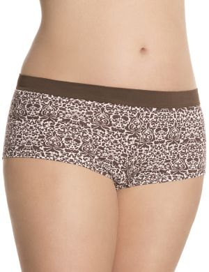 Cotton boyshort with comfort band
