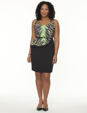 Side peplum shift dress