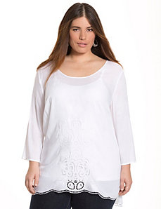 Embroidered tunic by LANE BRYANT