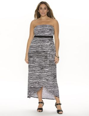 Printed maxi tube dress