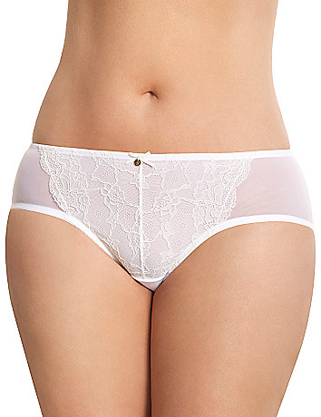 Lace front hipster panty