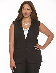 Double weave vest by LANE BRYANT