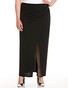 Lane Collection draped maxi skirt