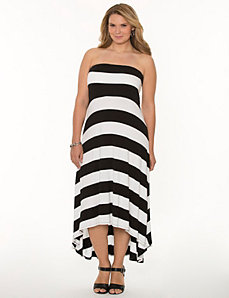 Striped high-low maxi