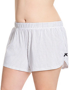 Striped sleep short by LANE BRYANT