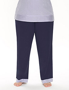Sleep pant with striped trim by LANE BRYANT