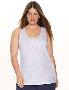 Pinstripe sleep tank by LANE BRYANT