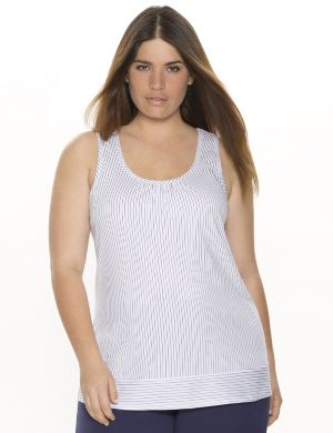 Pinstripe sleep tank