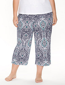 Paisley cropped sleep pant