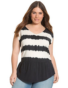 Tie dye striped tunic by LANE BRYANT