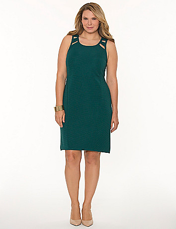 Cut-out sheath dress