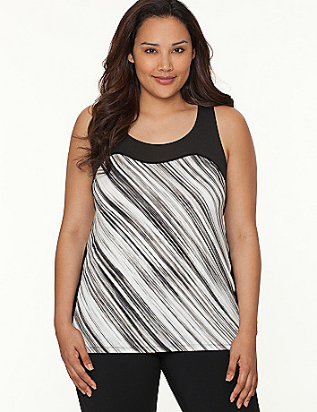 TruDry striped racer-back tank