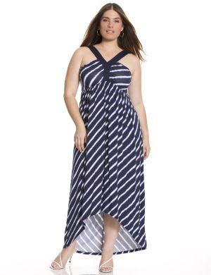 Y-halter maxi dress