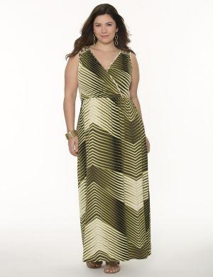 Printed lattice shoulder maxi dress