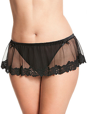 Skirted crotchless panty