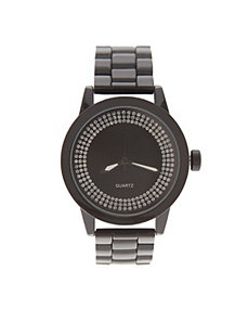 Black watch with sparkle face by Lane Bryant