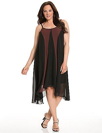 Lane Collection colorblock slip dress