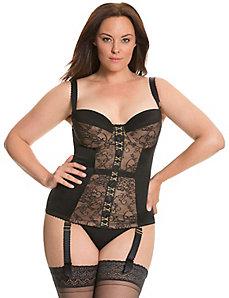 Satin & lace corset