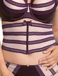 Mesh & lace waist cincher