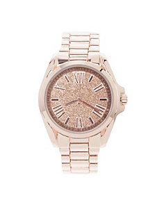 Dusted face Roman numeral watch by Lane Bryant