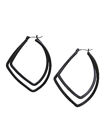 Hammered teardrop earrings by Lane Bryant