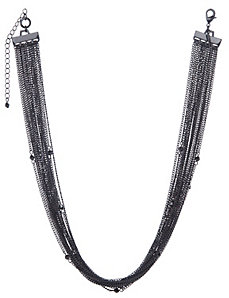 Matte multi chain necklace by Lane Bryant by LANE BRYANT