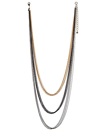 Multi chain long necklace by Lane Bryant