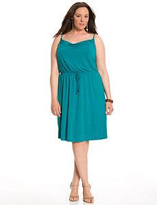 Tie waist tank dress