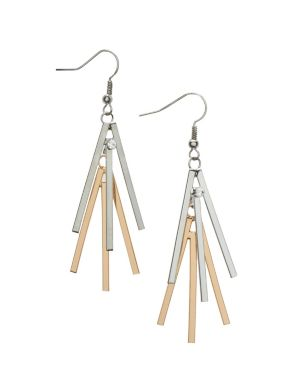 Sunburst stick earrings by Lane Bryant
