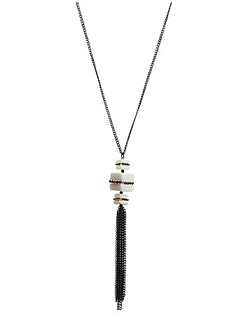 Block tassel necklace by Lane Bryant