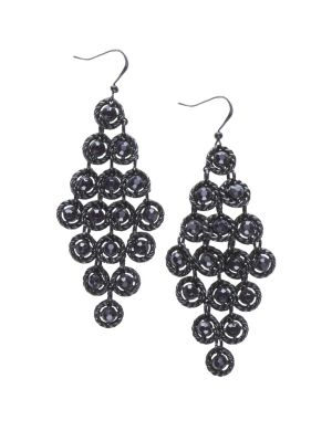 Stone waterfall earrings by Lane Bryant
