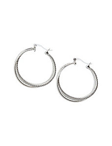 Twisted hoop earrings by Lane Bryant by LANE BRYANT