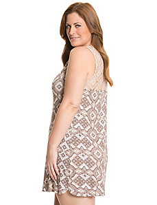 Tru to You scarf print lace back chemise by LANE BRYANT