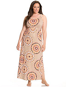 Medallion print maxi lounger by LANE BRYANT
